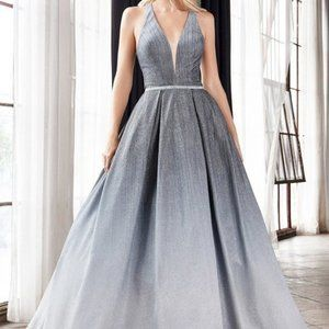 Prom Party Glitter Open Back A-Line Dress J8737
